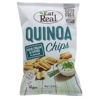 Eat Real Quinoa Cream & Chive Chips - 80g